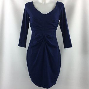 Susana Monaco Blue Long Sleeve Dress Size Large